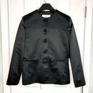 Oleg Cassini Size 10 Formal Black Satin Jacket